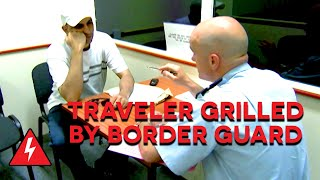 Strict Border Agent Questions Illegal Immigrant | Border Force