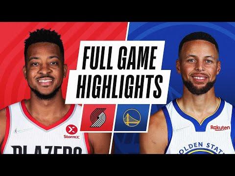 Golden State Warriors vs Portland Trail Blazers</a> 2021-10-16
