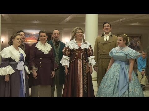 I'm wearing the green near the middle singing with The Voices of Liberty at Epcot. I've been singing with them since May of 1993.