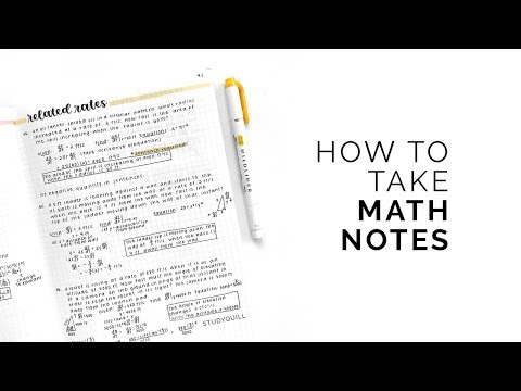 How to Take Math Notes