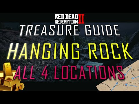 RDR2 - Hanging Rock Treasure Map - ALL 4 Locations shown
