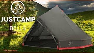 Justcamp Bell Gruppenzelt - Tipi Zelt Camping, Urlaub, viel Platz