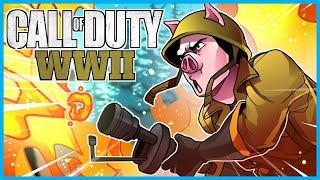 Call of Duty: World War II Funny Moments! - Flamethrower Fun, Shane the Noob, More Ninja Defuses!