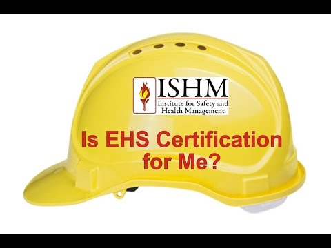 Is EHS Certification for Me? - YouTube