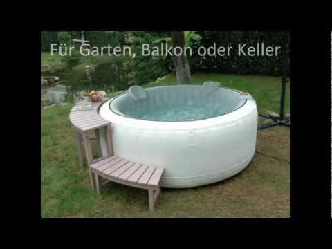 Whirlpool aufblasbar für Garten Balkon oder Keller