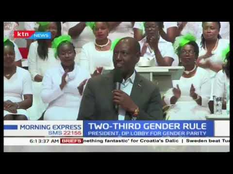 Uhuru, Ruto lobby the MPs to pass the two-thirds gender rule
