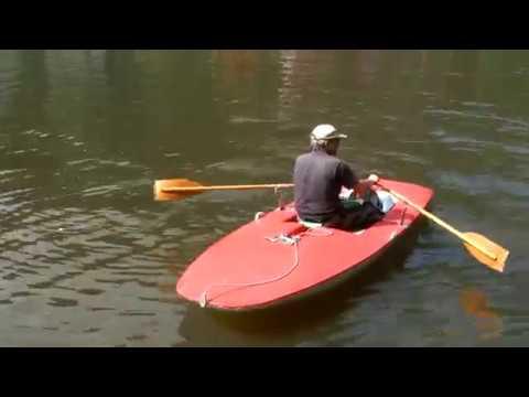 Topper Segelboot als Ruderboot (Topper sailing boat rowing)