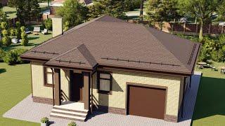 Проект дома 077-A, Площадь дома: 77 м2, Размер дома:  12,2x11,5 м