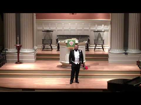 Singing Nessun Dorma from Puccini's Turandot