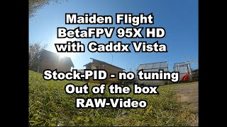 BetaFPV 95x HD Maiden Flight - Caddx Vista Stock - PID RAW-Video - out of the box