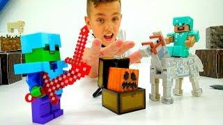 Видео Майнкрафт - Ловушки для мобов Minecraft - Игры для детей.