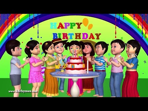 Download Happy Birthday Song - 3D Animation English Nursery Rhymes & Songs For Children HD Mp4 3GP Video and MP3
