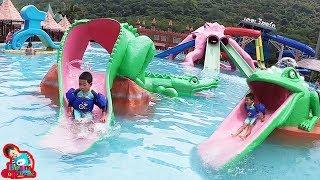 น้องบีม | เล่นสวนน้ำเด็ก เที่ยวราชบุรี เดอะรีสอร์ท สวนผึ้ง