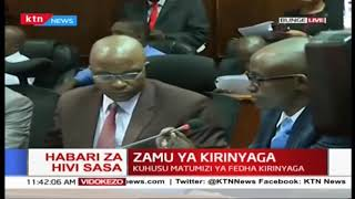 Zamu ya Kirinyaga kuhojiwa na seneti kuhusu matumizi ya fedha za Kaunti