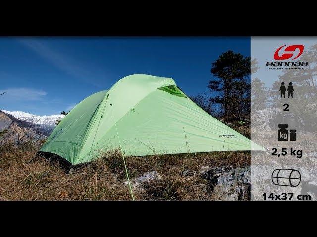 Видео Палатка двухместная Hannah Eagle 2 зеленая