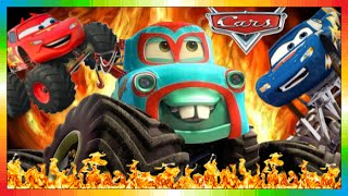 CARS ESPAÑOL  MONSTER MATE TRUCK  Película Niños  Movie + El Rayo McQueen  1 2 3 Monstertrucks