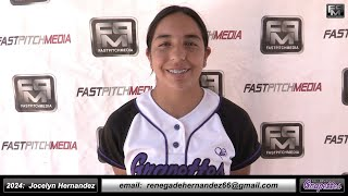 2024 Jocelyn Hernandez 3.7 GPA - Catcher, 3rd Base & Outfielder Softball Skills Video - Ca Grapettes