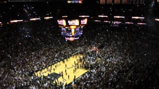 Final Seconds of Spurs 2014 Championship Win