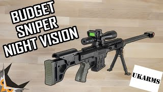 BUDGET AIRSOFT SNIPER With NIGHTVISION? | UKARMS P1082
