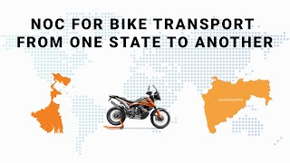 NOC for Bike Transport from One State to Another
