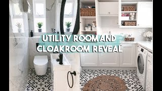 UTILITY ROOM AND CLOAKROOM REVEAL | LAUNDRY ROOM TOUR