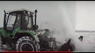 Трактор РТМ-160. Испытание шнекоротора СШР-2,6 и бабочки. Часть 1.