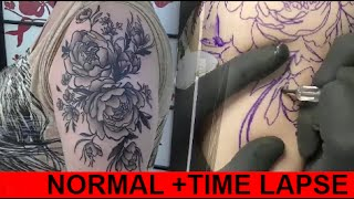 Dark flowers - time lapse