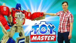 Трансформеры: Toy Master против десептиконов! Отключаем энергощит!
