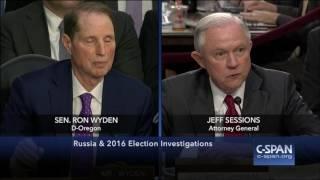 Attorney General Sessions & Senator Wyden FULL EXCHANGE (C-SPAN)