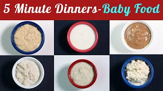 6 Quick and Easy Dinner Recipe Ideas for 8+ Months to 2 Year Olds | 5 Minute Weight Gain Dinners