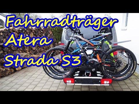 Fahrradträger Atera Strada S3 - für E Bikes - Montage und Beladung mit 3 Bikes