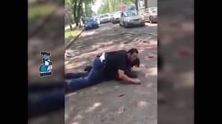 Cop Stomps On Man's Head
