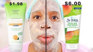 St. Ives Apricot Scrub vs. Equate Beauty Apricot Scrub! Skincare Dupes for High end Products!