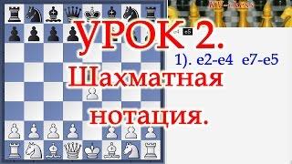 Шахматы.Уроки Обучение для начинающих и новичков Шахматная нотация Урок 2