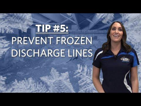 Tip #5: Prevent Frozen Discharge Lines