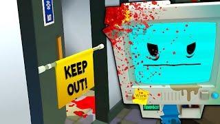 INSIDE TEMP BOTS SECRET MURDER ROOM (This is scary...)| Job Simulator VR Infinite Overtime HTC Vive)