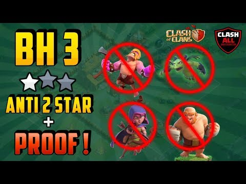 BH3 Anti 2 Star Base Replay Proof | BH3 Trophy Base | BH3 Tested | Clash Of Clans Mp3