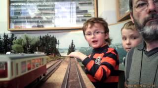 preview picture of video 'Video Fahrt auf der Modellbahnanlage des Modellbahnzirkel Tachov 2014'