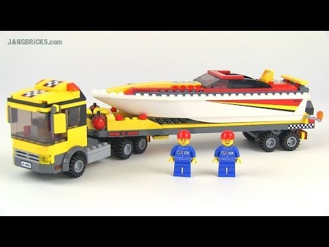 LEGO City 4643 Power Boat Transporter set review!