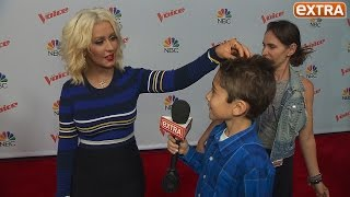 Our 10-Year-Old Correspondent Returns to 'The Voice,' Brokers a Bet Between Christina & Blake