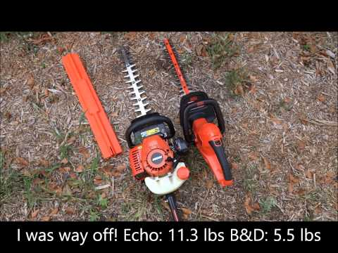 Black & Decker (HT22) 22-inch Corded Electric Hedge Trimmer Unboxing, Review, and Comparison
