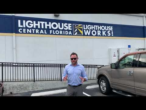 Thank-You' Video of Lighthouse CEO, Kyle Johnson, standing in front of the Lighthouse Works building in south Orlando