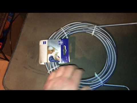 Rohr-Reinigungsspirale Abflussspirale unboxing und Anleitung