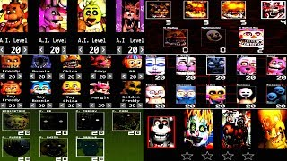 Five Nights at Freddy's 6 ALL CUSTOM NIGHT FNAF 5 4 3 2 1 *FNAF 2018* - dooclip.me