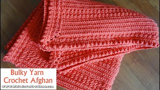 Bulky Yarn Crochet Afghan - Free Crochet Pattern