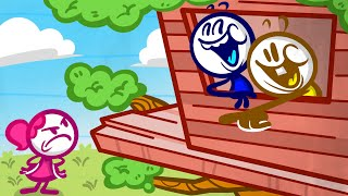 """""""Teach A Man To Swish"""" Pencilmation   Animated Cartoons for kids   New episode!"""