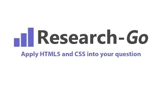 Applying HTML5 and CSS into your question