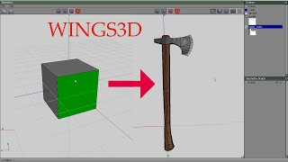 Create axe model for warband - wings 3D
