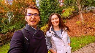 Что вы будете иметь около дома в Канаде   Прогулка по парку около нашего дома