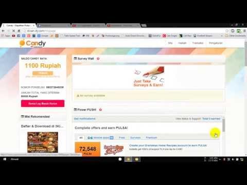 Video Cara Mendapatkan PULSA Gratis dari Internet April 2017